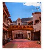 Scotty's Castle Courtyard Fleece Blanket