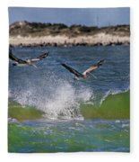 Scouting For A Catch Fleece Blanket