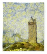 Starry Scrabo Tower Fleece Blanket