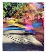 Scrambler Blur Fleece Blanket