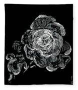 Scratched Rose Fleece Blanket