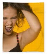 Screaming Girl Fleece Blanket