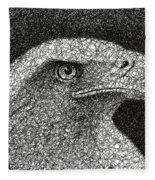 Scribble Eagle Fleece Blanket