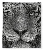 Scribble Tiger Fleece Blanket