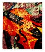 Scribbled Fiddle Fleece Blanket