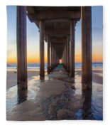 Scripps Pier #1 Fleece Blanket