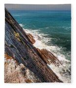 Sea And Cliff Fleece Blanket