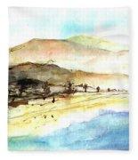 Sea And Mountains Fleece Blanket
