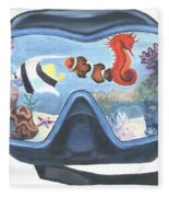 Sea Beneath The Surface Fleece Blanket