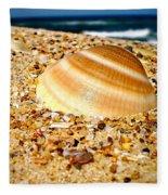Sea Beyond The Shell Fleece Blanket