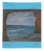 Sea Cave Fleece Blanket