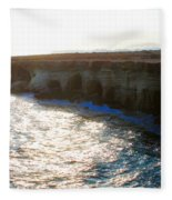 Sea Caves Fleece Blanket