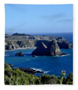 Sea Coast Of Northern California Fleece Blanket