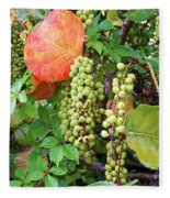Sea Grapes And Poison Ivy Fleece Blanket