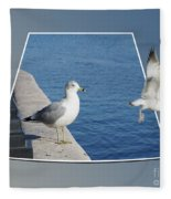 Sea Gull Away Out Of Bounds Fleece Blanket