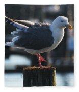 Sea Gull On Break Fleece Blanket