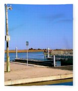 Sea Gulls Watching Over The Wetlands Fleece Blanket