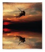 Sea King Sunset  Fleece Blanket