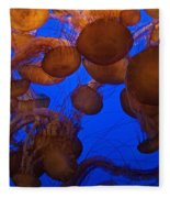 Sea Nettle Jellyfish Fleece Blanket