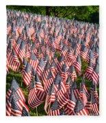 Sea Of Flags Fleece Blanket