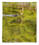 Sea Of Green Square Fleece Blanket