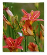 Sea Of Lilies Fleece Blanket