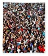 Sea Of People Fleece Blanket