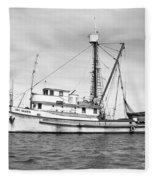 Purse Seiner Sea Queen Monterey Harbor California Fishing Boat Purse Seiner Fleece Blanket