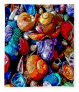 Sea Shell Abstract Fleece Blanket