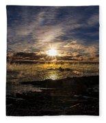 Sea Smoke Panorama Fleece Blanket