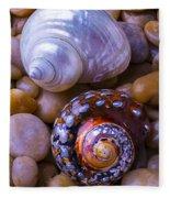 Sea Snail Shells Fleece Blanket