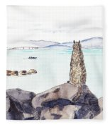 Sea Squirrel Fleece Blanket
