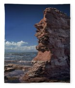 Sea Stack At North Cape On Prince Edward Island Fleece Blanket
