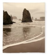 Sea Stacks At Bandon 2 Fleece Blanket