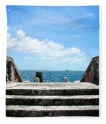 Sea Stairs Fleece Blanket