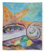 Sea Star-abalone-snail Shell Fleece Blanket