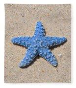 Sea Star - Light Blue Fleece Blanket