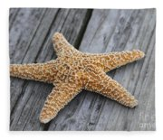 Sea Star On Deck Fleece Blanket