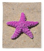Sea Star - Pink Fleece Blanket