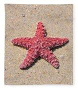 Sea Star - Red Fleece Blanket