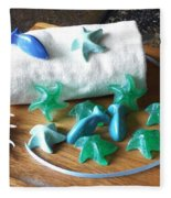 Sea Stars Mini Soap Fleece Blanket
