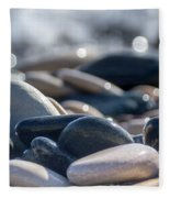 Sea Stones  Fleece Blanket