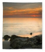 Sea Sunset Fleece Blanket