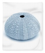 Sea Urchins Three In Blues Fleece Blanket