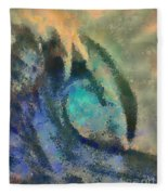 Sea Wave Fleece Blanket