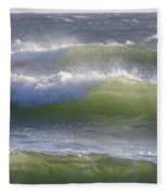 Sea Waves Fleece Blanket