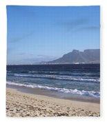 Sea With Table Mountain Fleece Blanket