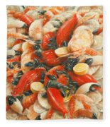 Seafood Extravaganza Fleece Blanket