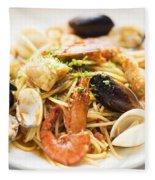 Seafood Pasta Dish Fleece Blanket