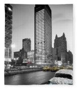 Seagram Building Fleece Blanket